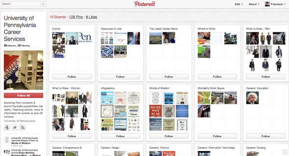 Université de Pennsylvanie Pinterest