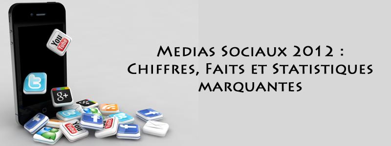 Medias sociaux 2012 faits chiffres statistiques