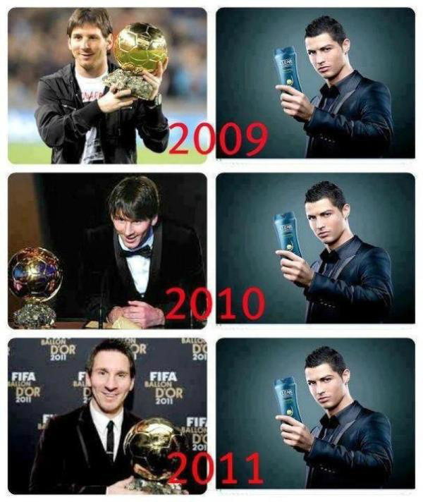 Messi Ronaldo Ballon Or