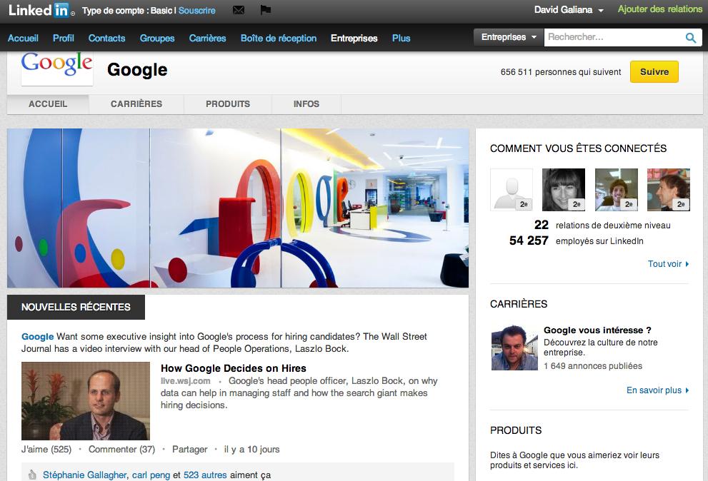 Google-page-Linkedin