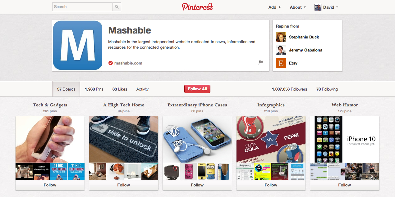Mashable-page-entreprise-Pinterest