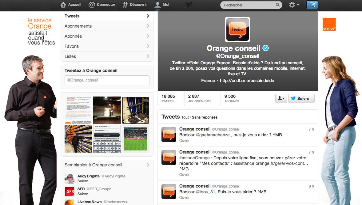 Orange-service-client-Twitter
